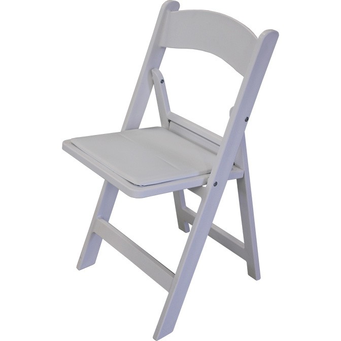 Oxford White Resin Folding Chair Featured