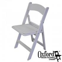 Oxford White Resin Folding Chair