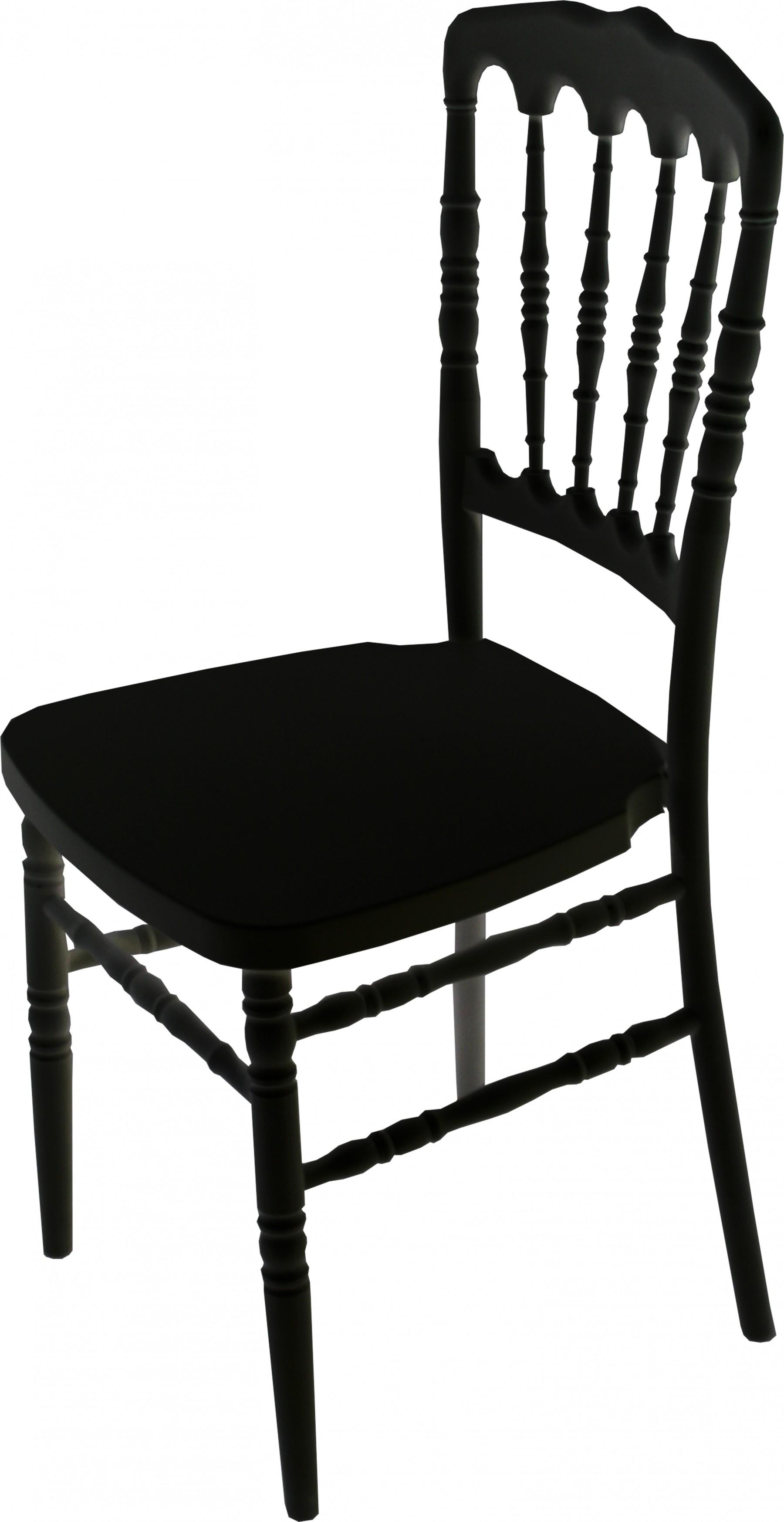 Fayette Black Napoleon Chair