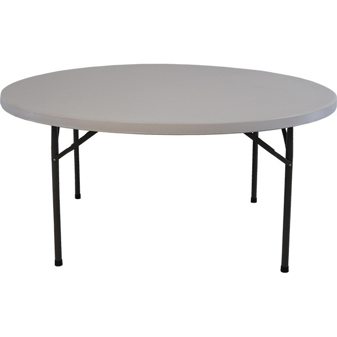 "63"" Round Resin Table"