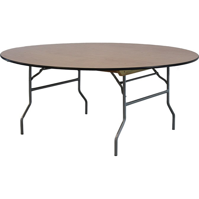 72 Round Wood Table Featured