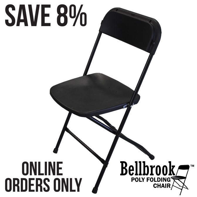 Bellbrook Black Poly Folding Chair Pallet