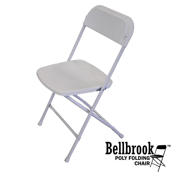 Bellbrook White Poly Folding Chair