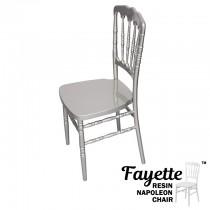 Fayette Silver Napoleon Chair