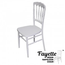 Fayette White Napoleon Chair