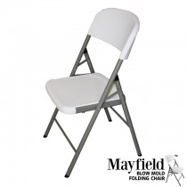 Mayfield Blow-Molded Plastic Folding Chair