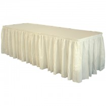 Fill'N Chill Polyester Skirting 21' Ivory
