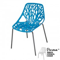 Parma Blue Birch Stencil Chair