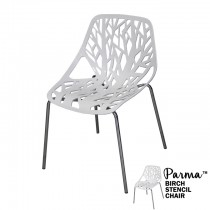 Parma White Birch Stencil Chair