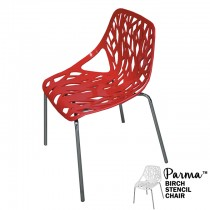Parma Red Birch Stencil Chair