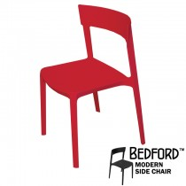 Bedford Red Modern Side Chair