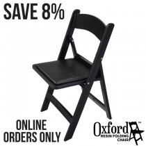 Oxford Black Resin Folding Chair Pallet