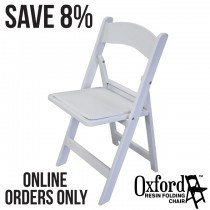 Oxford White Resin Folding Chair Pallet