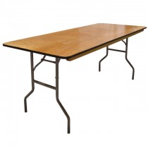 "6' Wood Banquet Table 30""x 72"""