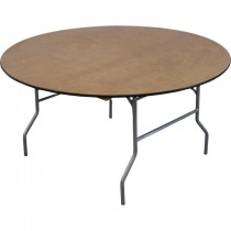 "60"" Round Wood Table"