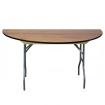 "60"" Semi-Round Wood Table"
