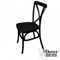 Dover Black Resin Cross Back Chair