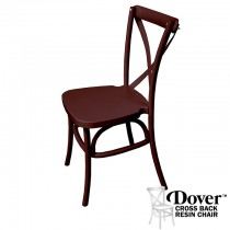 Dover Chocolate Resin Cross Back Chair