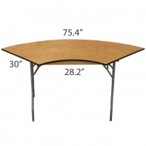 Serpentine 3' x 8' Table