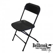 Bellbrook Black Poly Folding Chair