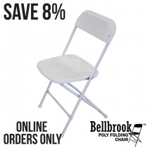 Bellbrook White Poly Folding Chair Pallet