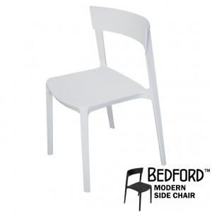 Bedford White Modern Side Chair