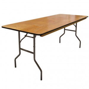 """6' Wood Banquet Table 30""""x 72"""""""