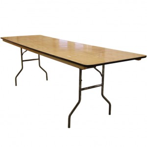 """8' Wood Banquet Table 30""""x 96"""""""