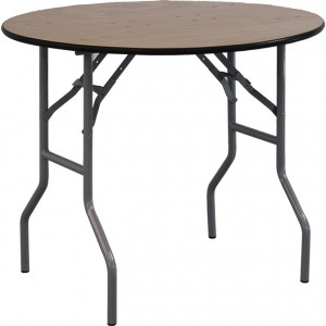 """36"""" Round Wood Table"""