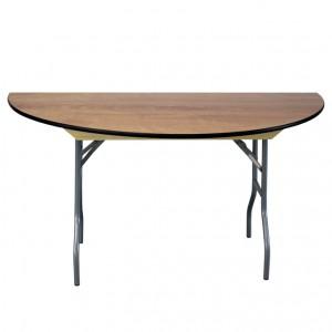 "60"" Semi-Round Wood Table"