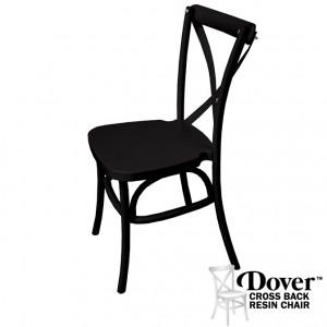 Dover Black Resin Cross Back Chair