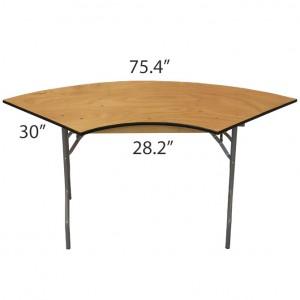 Serpentine 3' x 8' Table